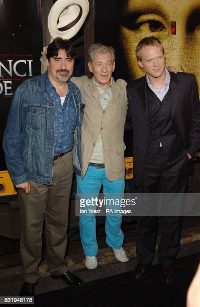 Alfred Molina Sir Ian McKellen and Paul Bettany arrive on the 'Da Vinci Code' Eurostar train at Cannes railway station after completing a...