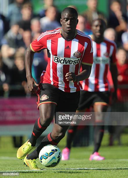 Alfred N'Diaye of Sunderland during a preseason friendly match between Sunderland AFC and Udinese at Heritage Park on August 09 2014 in Bishop...