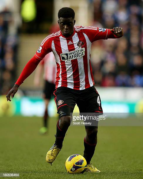Alfred N'Diaye of Sunderland during the Barclays Premier League match between Reading and Sunderland at Madejski Stadium on February 2 2013 in...