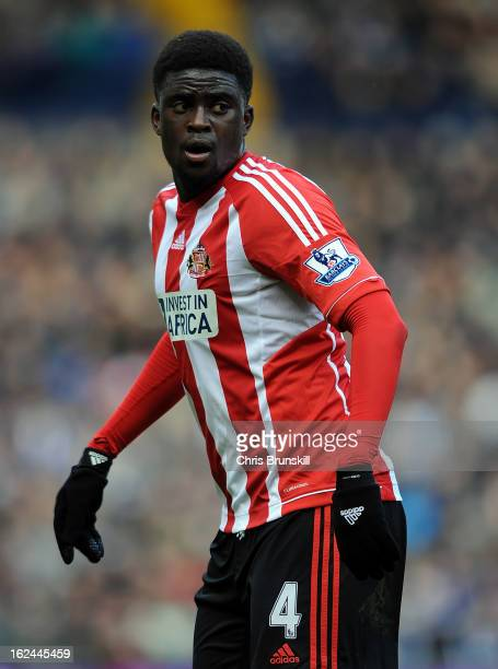 Alfred N'Diaye of Sunderland looks on during the Barclays Premier League match between West Bromwich Albion and Sunderland at The Hawthorns on...