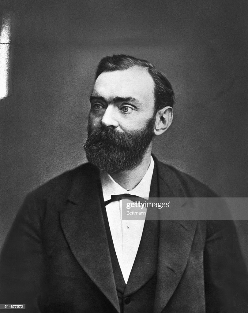 <a gi-track='captionPersonalityLinkClicked' href=/galleries/search?phrase=Alfred+Nobel&family=editorial&specificpeople=584637 ng-click='$event.stopPropagation()'>Alfred Nobel</a> (1833-1896), Swedish manufacturer and inventor. Established fund of $9,200,000 for Nobel Prize (since 1901).