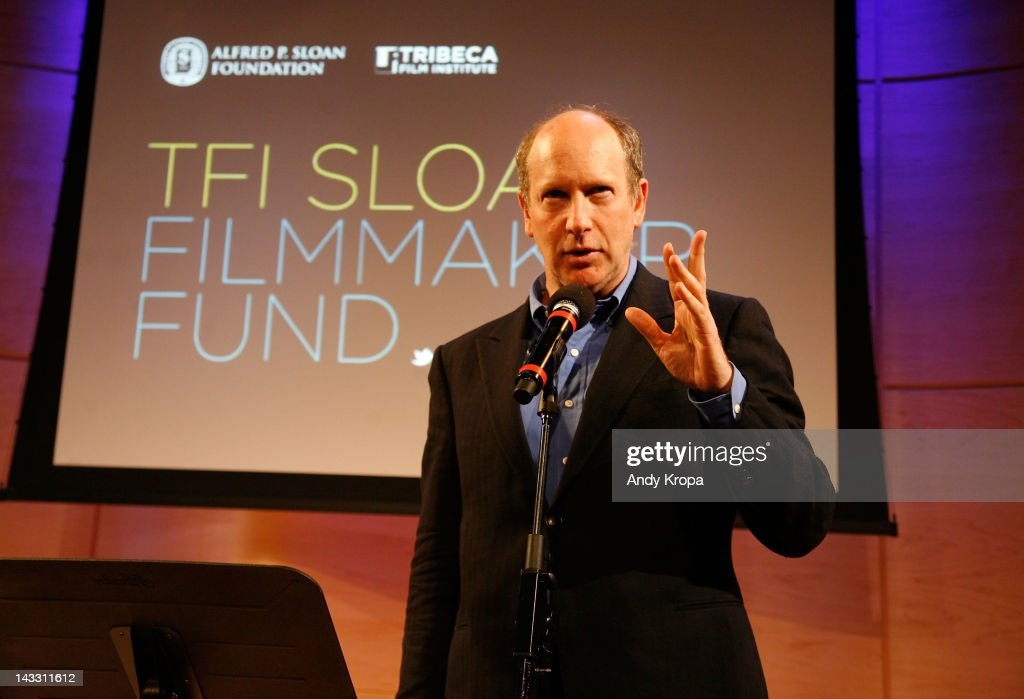 Alfred P. Sloan Foundation's Doron Weber speaks at the Sloan WIP Readings & Cocktails during the 2012 Tribeca Film Festival at the Green Space on April 23, 2012 in New York City.