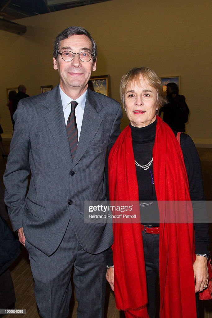 Alfred Pacquement, Director of the Pompidou Museum of Modern Art, and his wife Caroline attend Dali Private Exhibition Preview at Centre Pompidou on November 18, 2012 in Paris, France.