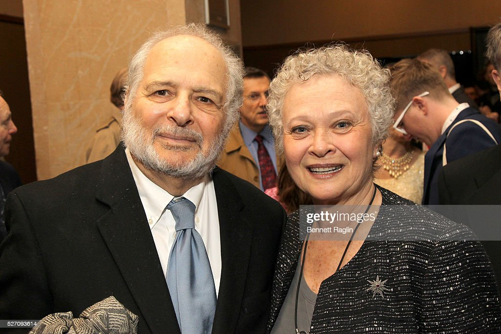 Alfred Uhry (L) arrives at the 31st Annual Lucille Lortel Awards at NYU Skirball Center on May 1, 2016 in New York City.