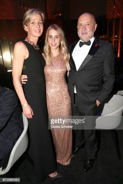 Alfred Weiss and his wife Sabine Weiss and daughter Nina Neuer during the aftershow party of the 24th Opera Gala benefit to Deutsche AidsStiftung at...