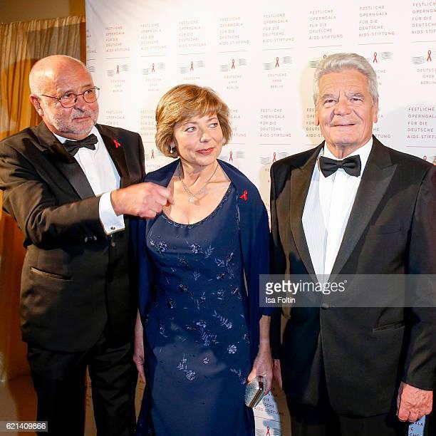 Alfred Weiss federal President of Germany Joachim Gauck and his girlfriend Daniela Schadt arrive at the 23rd Opera Gala at Deutsche Oper Berlin on...