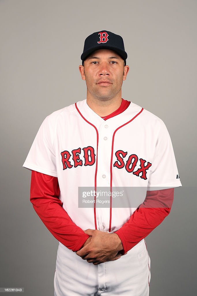 <a gi-track='captionPersonalityLinkClicked' href=/galleries/search?phrase=Alfredo+Aceves&family=editorial&specificpeople=5514493 ng-click='$event.stopPropagation()'>Alfredo Aceves</a> #91 of the Boston Red Sox poses during Photo Day on February 17, 2013 at JetBlue Park in Fort Myers, Florida.