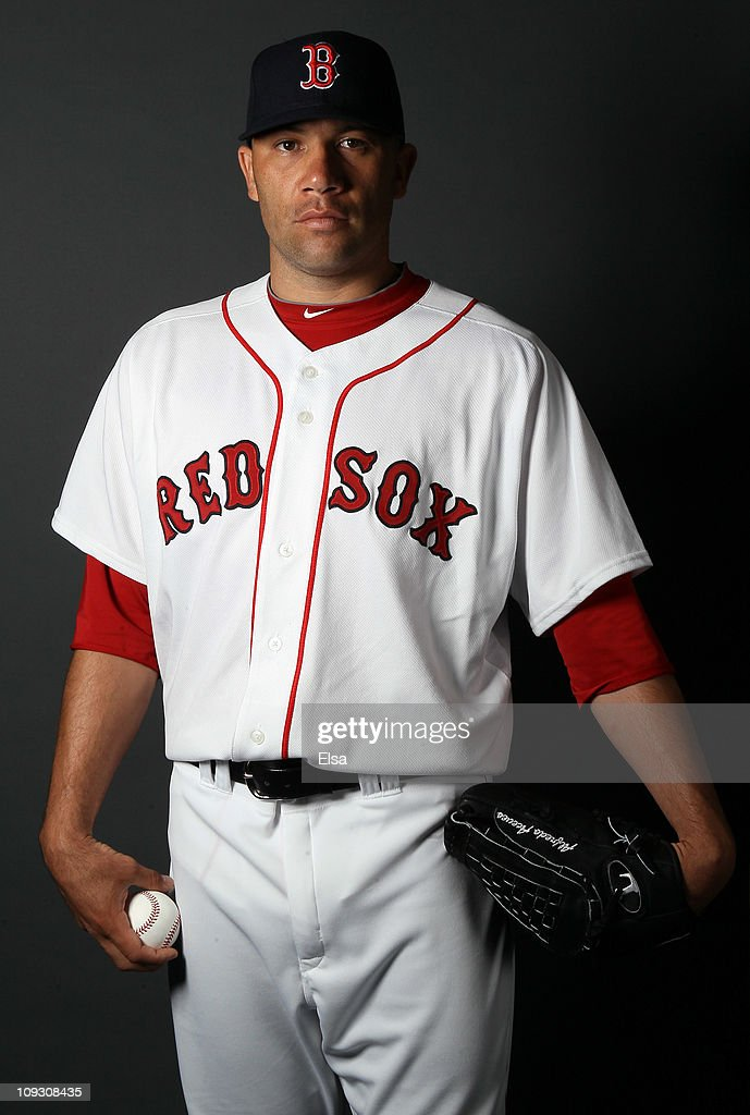 <a gi-track='captionPersonalityLinkClicked' href=/galleries/search?phrase=Alfredo+Aceves&family=editorial&specificpeople=5514493 ng-click='$event.stopPropagation()'>Alfredo Aceves</a> #91 of the Boston Red Sox poses for a portrait during the Boston Red Sox Photo Day on February 20, 2011 at the Boston Red Sox Player Development Complex in Ft. Myers, Florida