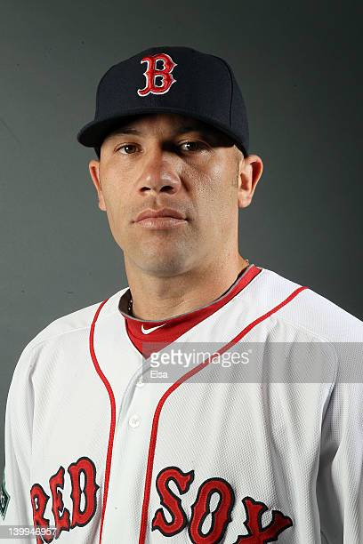 Alfredo Aceves of the Boston Red Sox poses for a portrait on February 26 2012 at jetBlue Park in Fort Myers Florida