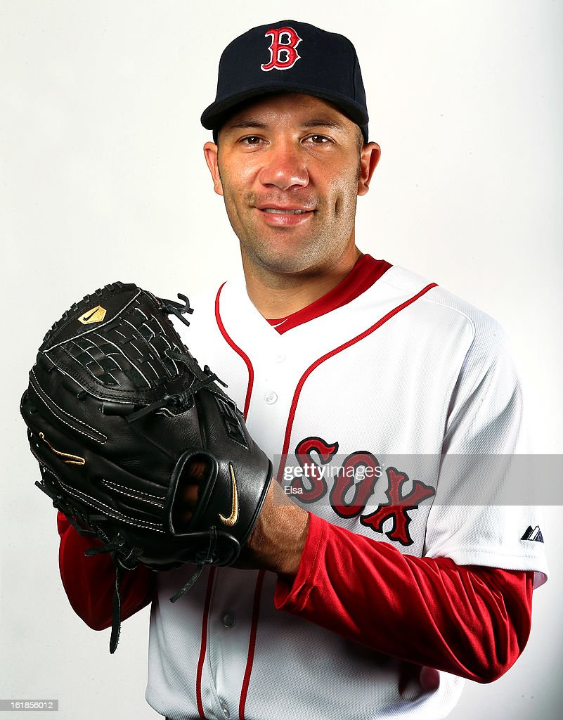 <a gi-track='captionPersonalityLinkClicked' href=/galleries/search?phrase=Alfredo+Aceves&family=editorial&specificpeople=5514493 ng-click='$event.stopPropagation()'>Alfredo Aceves</a> #91 of the Boston Red Sox poses for a portrait on February 17, 2013 at JetBlue Park at Fenway South in Fort Myers, Florida.
