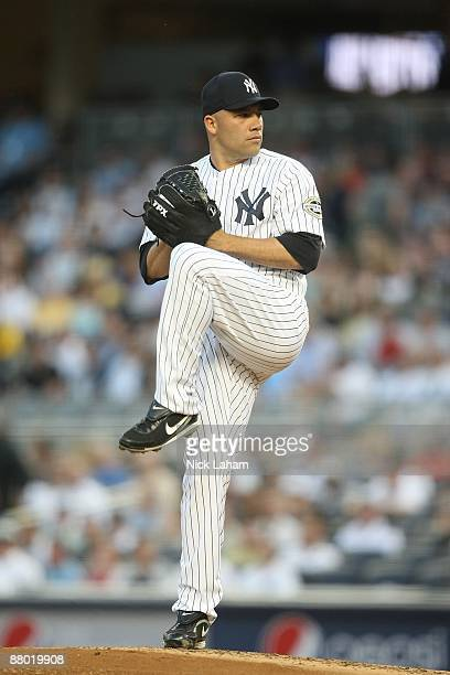 Alfredo Aceves of the New York Yankees pitches against the Baltimore Orioles on May 21 2009 at Yankee Stadium in the Bronx borough of New York City