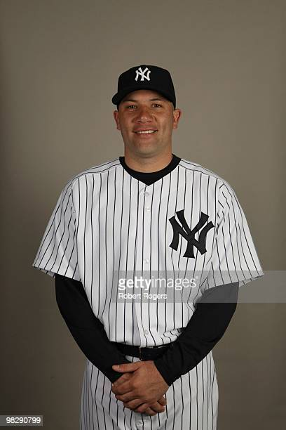 Alfredo Aceves of the New York Yankees poses during Photo Day on Thursday February 25 2010 at Steinbrenner Field in Tampa Florida