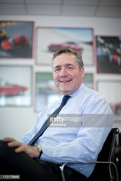 Alfredo Altavilla chief executive officer of Iveco reacts during an interview at the Fiat SpA Mirafiori car plant in Turin Italy on Tuesday March 29...