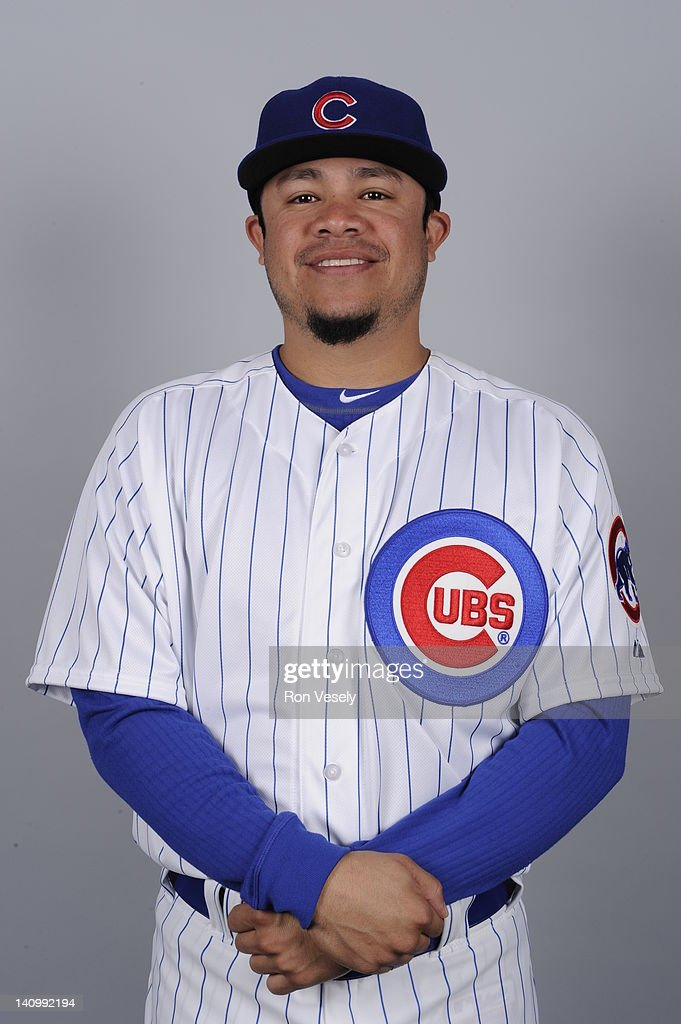<a gi-track='captionPersonalityLinkClicked' href=/galleries/search?phrase=Alfredo+Amezaga&family=editorial&specificpeople=239472 ng-click='$event.stopPropagation()'>Alfredo Amezaga</a> #99 of the Chicago Cubs poses during Photo Day on Monday, February 27, 2012 at Hohokam Stadium in Mesa, Arizona.