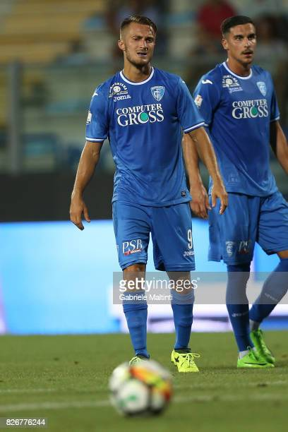 Alfredo Donnarumma of Empoli Fc reacts during the TIM Cup match between Empoli FC and Renate at Stadio Carlo Castellani on August 5 2017 in Empoli...