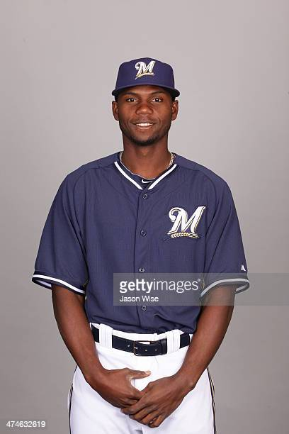 Alfredo Figaro of the Milwaukee Brewers poses during Photo Day on Sunday February 23 2014 at Maryvale Baseball Park in Phoenix Arizona