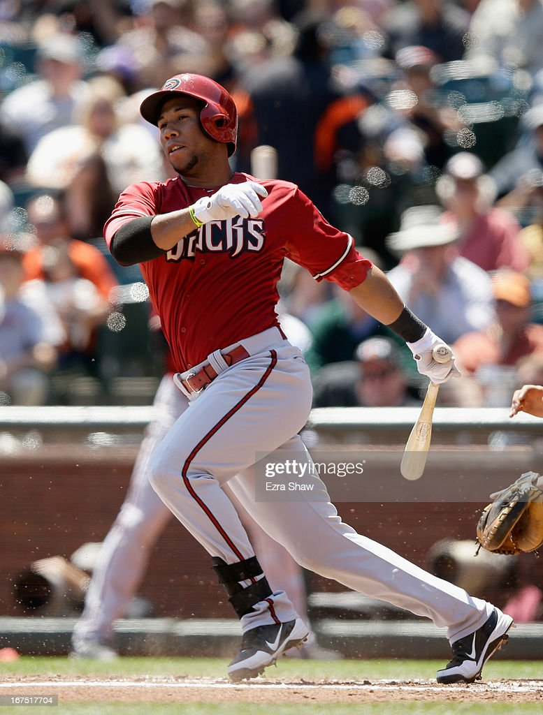 Alfredo Marte #17 of the Arizona Diamondbacks bats against the San Francisco Giants at AT&T Park on April 24, 2013 in San Francisco, California.