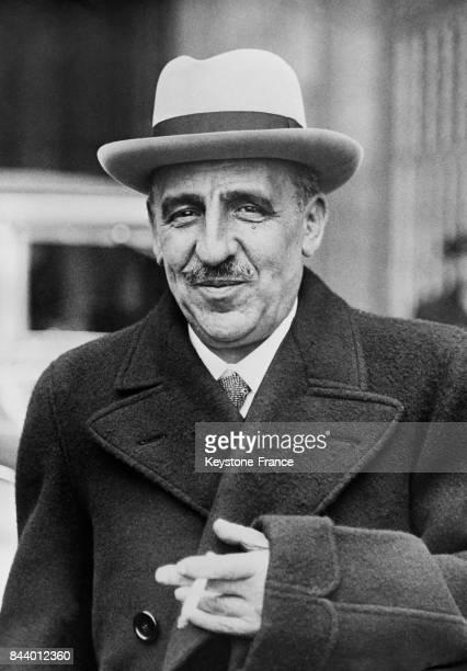 Alfredo Martinez ministre de la Justice du nouveau gouvernement espagnol à Madrid Espagne en 1935