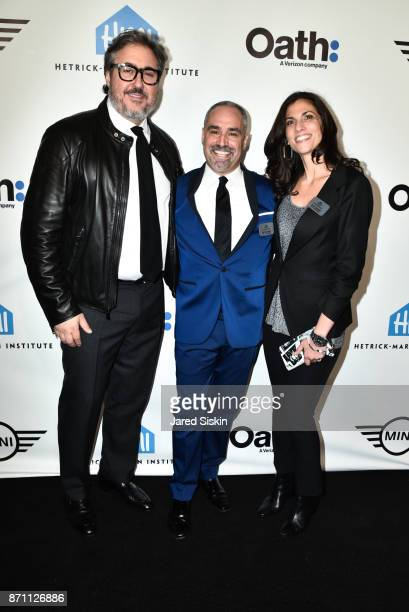 Alfredo Paredes Thomas Krever and Darra Gordon attend HetrickMartin Institute's 2017 'Pride Is' Emery Awards at Cipriani Wall Street on November 6...