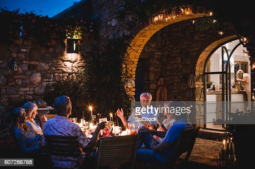 Alfresco Dining in the Evening