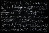 Algebra Math Problem on a Black Chalkboard
