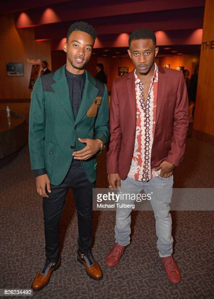 Algee Smith and Malcolm David Kelley attend a special screening of 'Detroit' hosted by Annapurna Pictures at the Directors Guild of America on August...