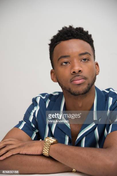 Algee Smith at the 'Detroit' Press Conference at the Four Seasons Hotel on August 4 2017 in Beverly Hills California