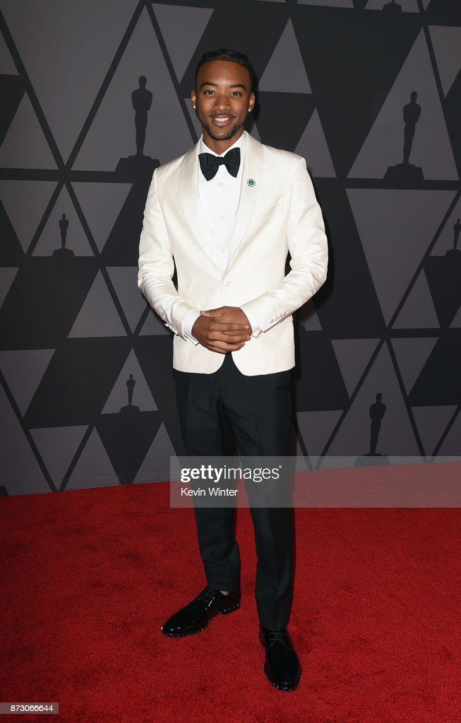 Algee Smith attends the Academy of Motion Picture Arts and Sciences' 9th Annual Governors Awards at The Ray Dolby Ballroom at Hollywood & Highland Center on November 11, 2017 in Hollywood, California.