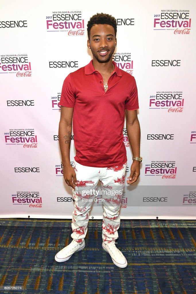 Algee Smith poses in the press room at the 2017 ESSENCE Festival presented by Coca-Cola at Ernest N. Morial Convention Center on July 2, 2017 in New Orleans, Louisiana.