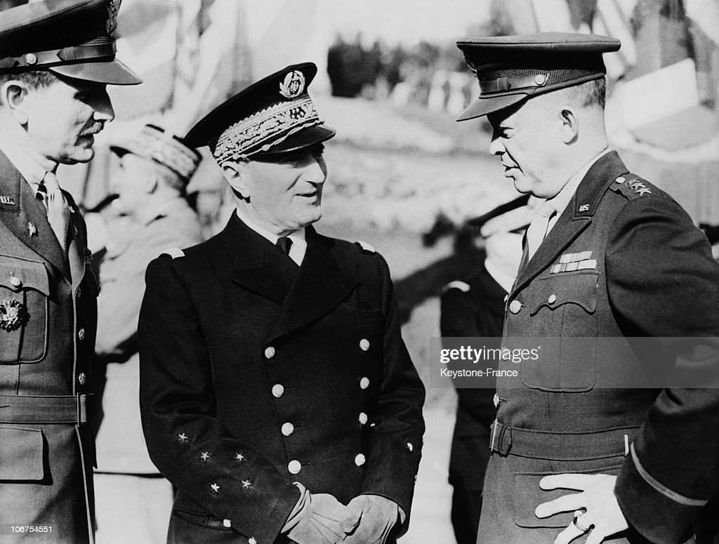 Algeria Algiers Admiral Darlan Few Days Before His Death With The General Eisenhower On December 14Th 1942