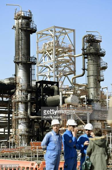 IN AMENAS Algeria Cylinders stand charred at a gas facility in In Amenas eastern Algeria on Jan 31 as the Algerian government shows the site of a...