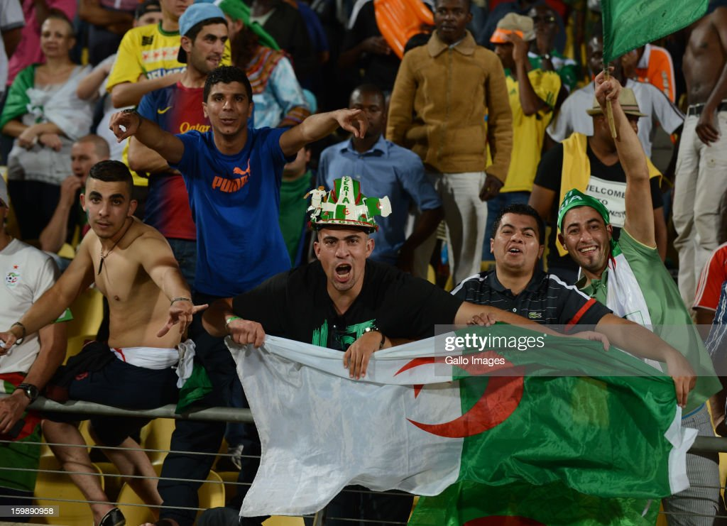 Algeria fans during the 2013 Orange African Cup of Nations match between Tunisia and Algeria at the Royal Bafokeng Stadium on January 22, 2012 in Rustenburg, South Africa.