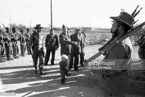 General Bellounis Joined The French Army Guerre d'Algérie DarChioukh décembre 1957 le général BELLOUNIS avec l'un de ses fils entouré par son...