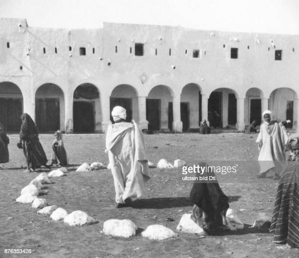 Algeria Ghardaia white stones from graveyards at the public meeting place allowing the ghosts of the dead people to take part in decisions Dr J von...