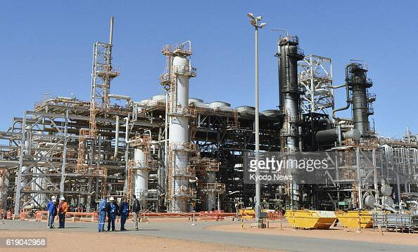 IN AMENAS Algeria Photo shows a gas facility in In Amenas eastern Algeria on Jan 31 as the Algerian government shows the site of a recent hostage...