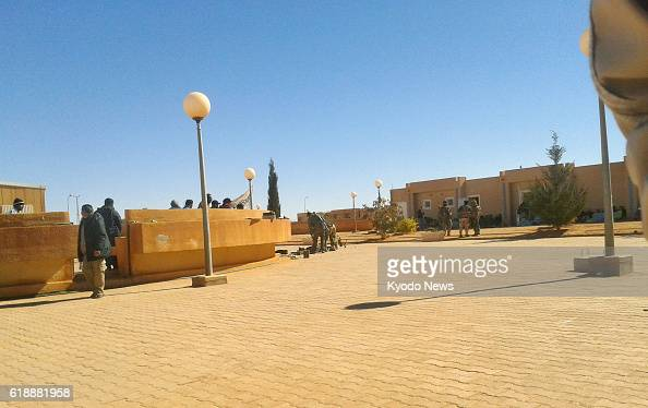 IN AMENAS Algeria Photo taken secretly on Jan 16 by one of the Algerians held hostage at a gas plant in In Amenas shows three attackers guarding...
