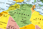 Map of Algeria. A detail from the World Map.