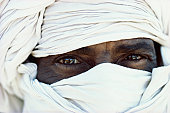 Algeria, Sahara, near Djanet, Tuareg tribesman, close-up