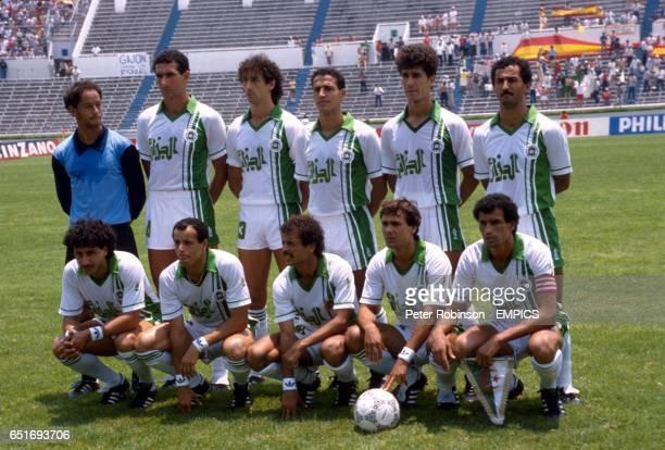 Algeria team group Nasser DRID Noureddine KOURICHI Rachid HARKOUK Faouzi MANSOURI Fadil MEGHARIA Mohamed KACI SAID Djamel ZIDANE Karim MAROC Lakhdar...