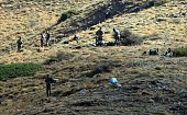Algerian army troops carry out search operations in the mountainous eastern Tizi Ouzou region in a desperate bid to find French hiker Herve Gourdel...