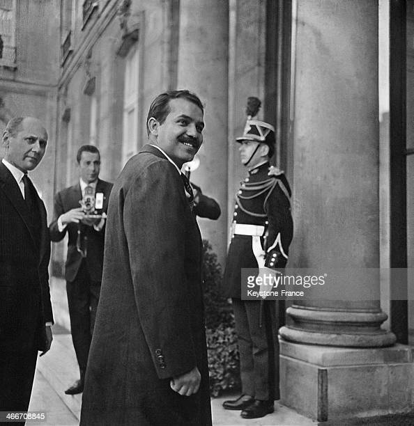 Algerian Minister of Foreign Affairs Abdelaziz Bouteflika arriving at Elysee Palace with a message from Algerian President Houari Boumediene for...