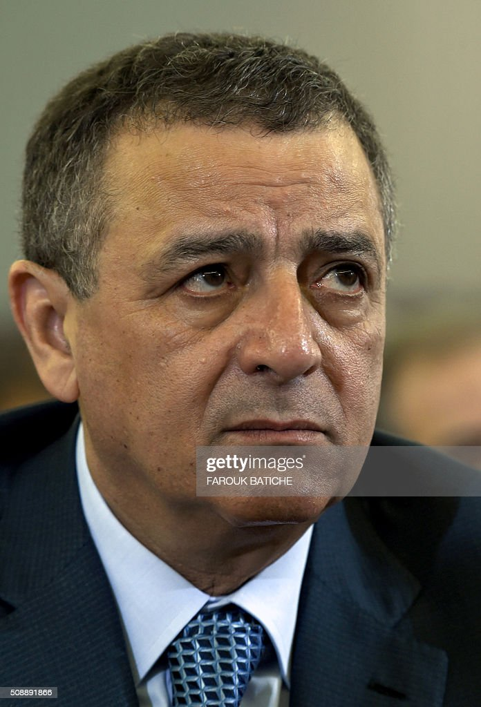 Algerian Minister of Industry and Mining, Abdeslam Bouchouareb, attends a parliamentary session to adopt a package of constitutional reforms on February 7, 2016, in the capital Algiers. Algeria's parliament adopted the constitutional reforms that authorities say will strengthen democracy, but opponents doubt it will bring real change. The reforms are meant to address longstanding public grievances in the North African nation, and possibly to prepare for a smooth transition amid concerns over the health of 78-year-old President Abdelaziz Bouteflika. / AFP / Farouk Batiche