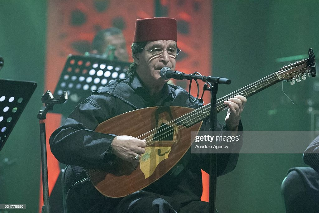 Algerian music group El Gusto performs during the 15th International Mawazine Music festival at 5th Mohammed Theatre Saloon, in Rabat, Morocco on May 27, 2016.