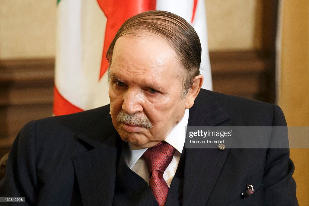 Algerian President <a gi-track='captionPersonalityLinkClicked' href=/galleries/search?phrase=Abdelaziz+Bouteflika&family=editorial&specificpeople=176720 ng-click='$event.stopPropagation()'>Abdelaziz Bouteflika</a> on January 25, 2015 in Algiers, Algeria.