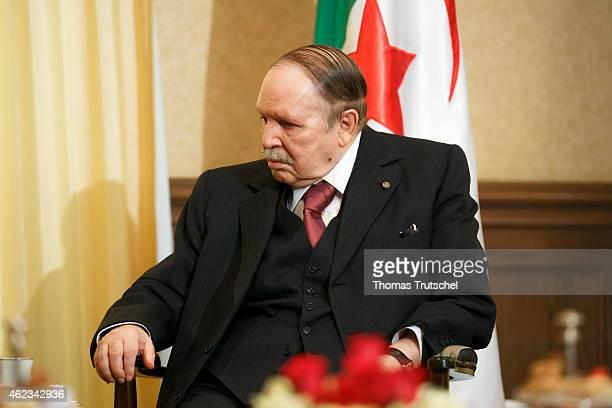 Algerian President Abdelaziz Bouteflika on January 25 2015 in Algiers Algeria