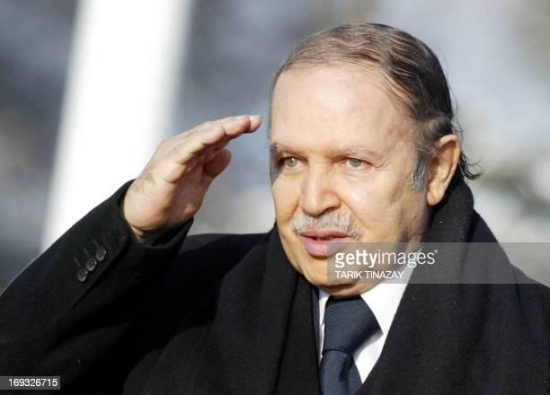 Algerian President Abdelaziz Bouteflika reviews an honour guard at the presidency residence in Ankara 02 February 2005 President Abdelaziz Bouteflika...