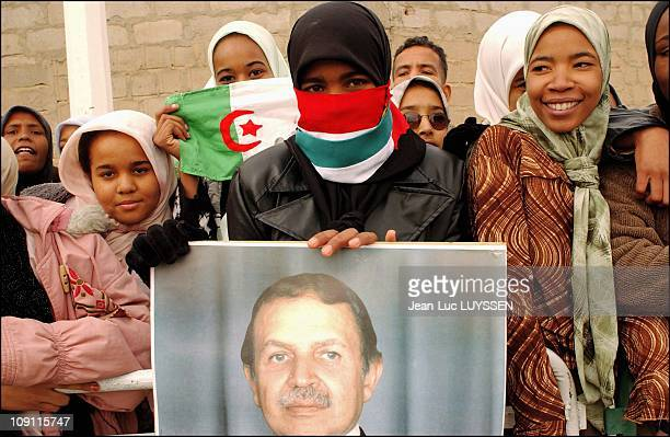 Algerian President Abdelaziz Bouteflika Visits The Wilaya Of El Oued One Month Prior To The Presidential Election On March 2 2004 In Biskra Algeria