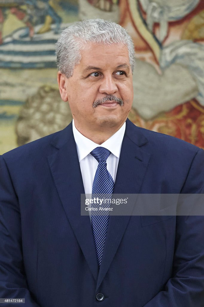 Algerian Prime Minister Abdelmalek Sellal looks on before his meeting with King Felipe VI of Spain at the Zarzuela Palace on July 21, 2015 in Madrid, Spain.
