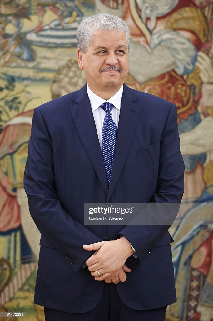 Algerian Prime Minister <a gi-track='captionPersonalityLinkClicked' href=/galleries/search?phrase=Abdelmalek+Sellal&family=editorial&specificpeople=3196882 ng-click='$event.stopPropagation()'>Abdelmalek Sellal</a> looks on before his meeting with King Felipe VI of Spain at the Zarzuela Palace on July 21, 2015 in Madrid, Spain.