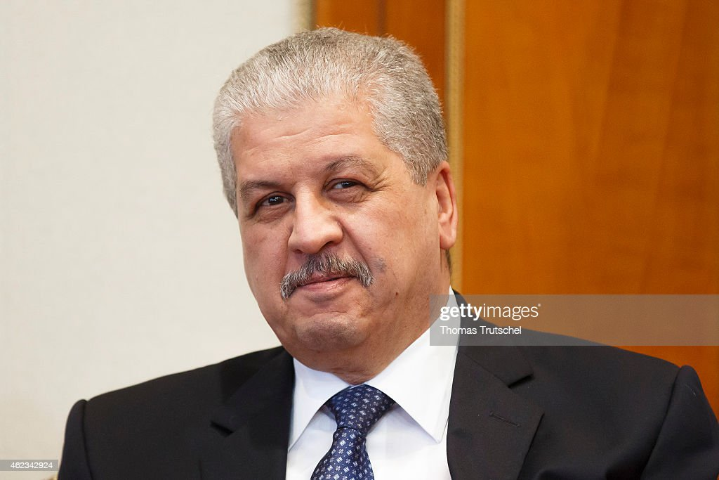 Algerian Prime Minister Abdelmalek Sellal on January 25, 2015 in Algiers, Algeria.